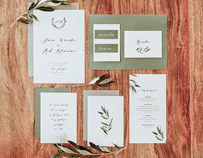 Sara & Rok Wedding Stationery