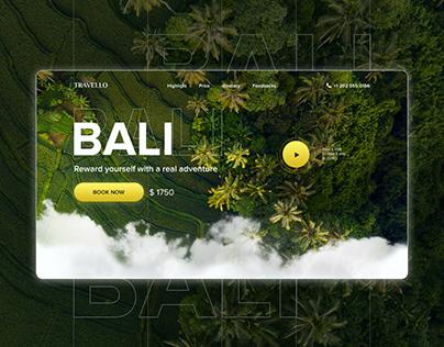 Bali Landing Page (Webdesign)