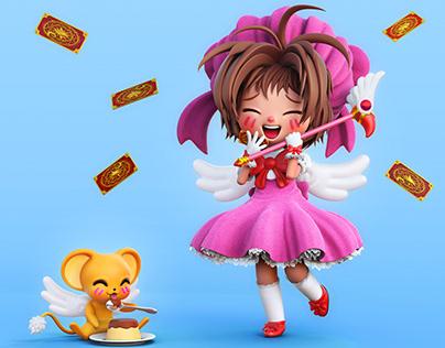 Cardcaptor Sakura and Kero Fan Art