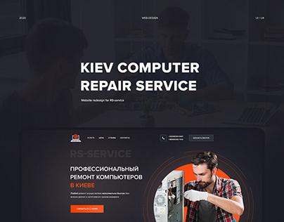 Website for computer repair service