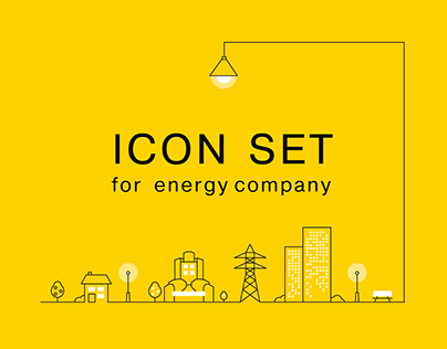 Icon set for energy company