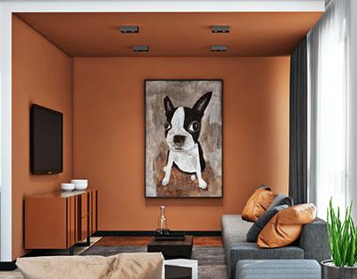 Apartment for a family with a pet