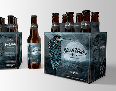 Black Water Pils Beer Packaging