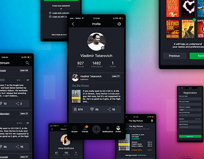 Free UI kit for Mobile App (Adobe XD)