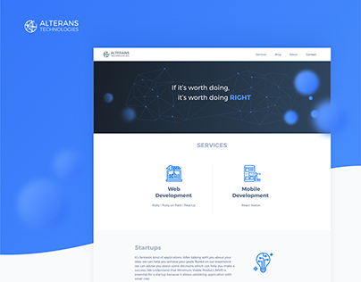 Alterans Technologies | website & branding