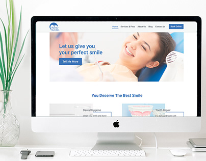 Landing page for dental clinic
