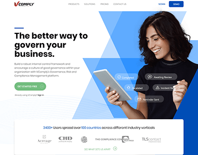 Landing Page V comply