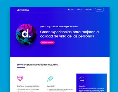 WEB: Drawnitza.com portfolio responsive design