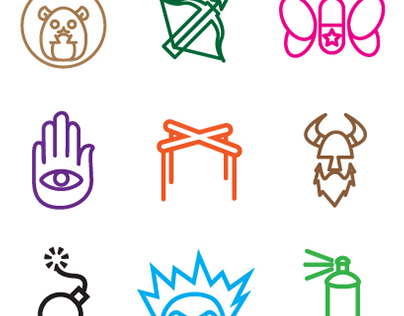 Murder Mystery Character Logos