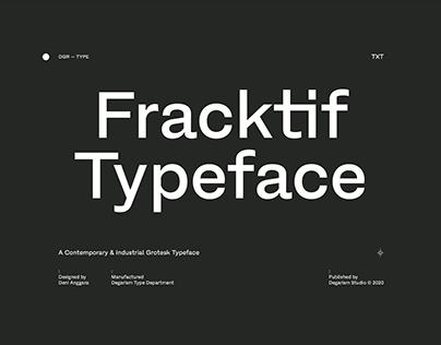 Fracktif Typeface