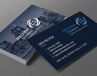 Richter Dynamics   Business Cards