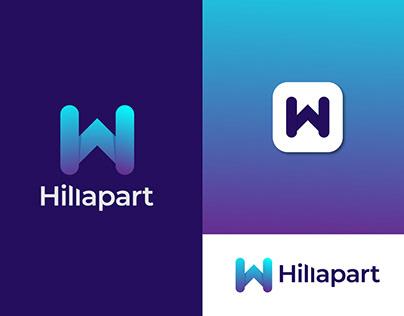 HillApart Logo - Modern Consultant Logo - Agency Logo