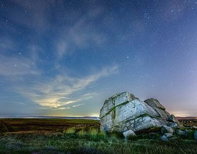 Hitching Stone at night