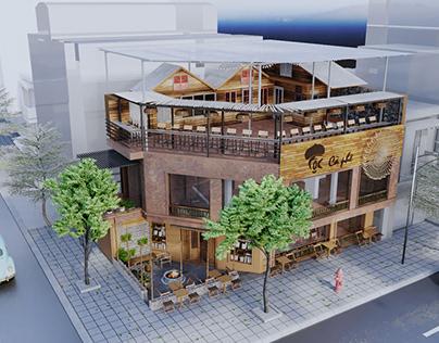 Coffee shop with spirit of ethinic minority