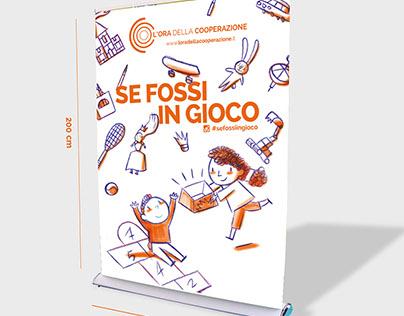 visual communication for Legacoop Lomba#sefossiingioco