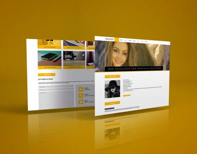 Single page web psd