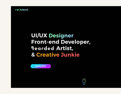 Portfolio Home Page UI