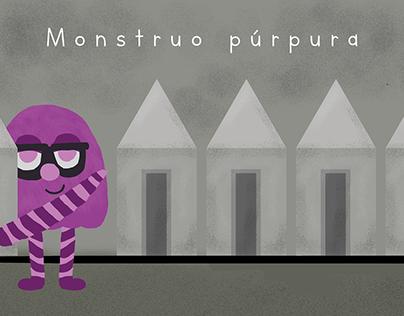 Monstruo púrpura - Libro infantil - Faylin LD