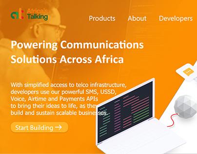 Africas Talking Website UI