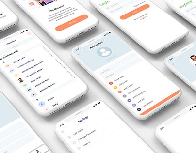 Concept Design iOS contact management app