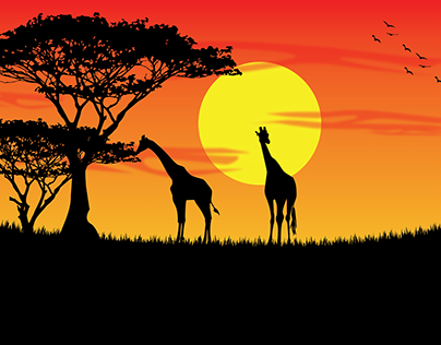 Wild Sunset | Illustration