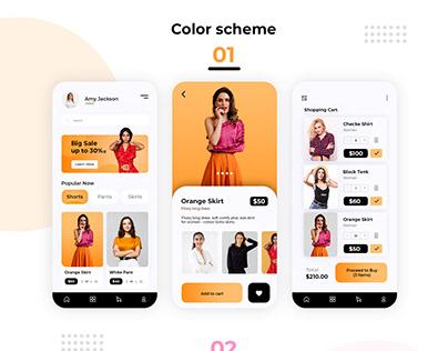 Clothing Store UIUX designs