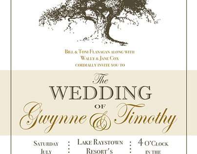 Cox Wedding Invitation