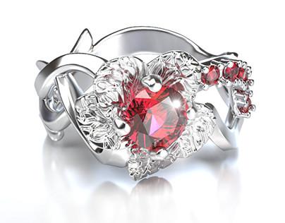 Engagement flower ring
