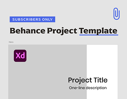 Behance Project Template