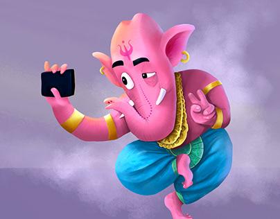 Ganesha's Selfie