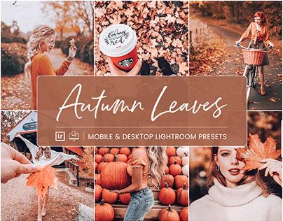 Autumn Leaves - Mobile & Desktop Lightroom Presets