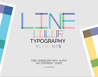 Typography elements A-Z Line color