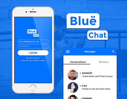 Adobe XD Challenge #Day5 Mobile Chat Application