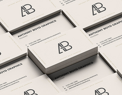 Business Card Grid Mockup Vol.3