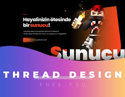 Minecraft Thread Design - Free PSD