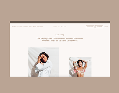 Rhye Intimates Underwear Subscription Squarespace Site