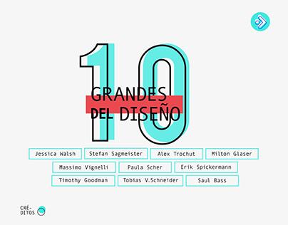 10 Grandes del diseño
