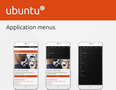Ubuntu Application menus