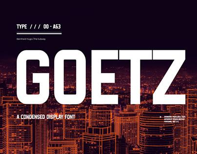 GOETZ - FREE FONT
