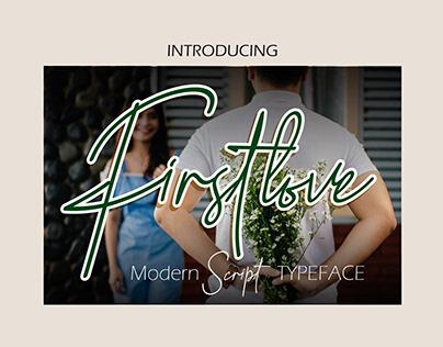 Firstlove Signature Typeface