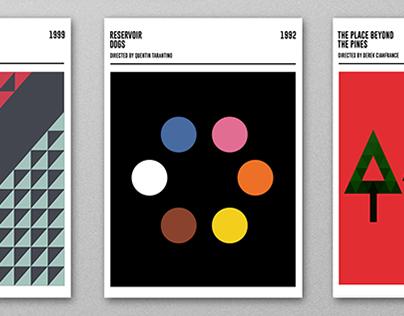 Geometric Movie Posters