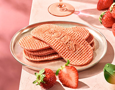 SOLES GAUFRETTE Strawberry Flavor Key Visual