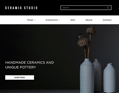 Ceramic Studio Concept Website UX/UI