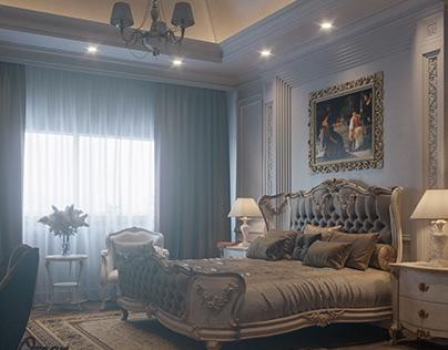 Semi classic master bedroom design on Behance