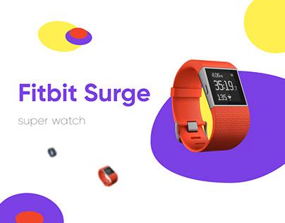 FitBit Surge landing page