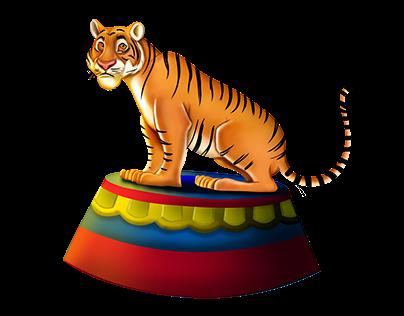 Circus - Skill Game Character - Tiger