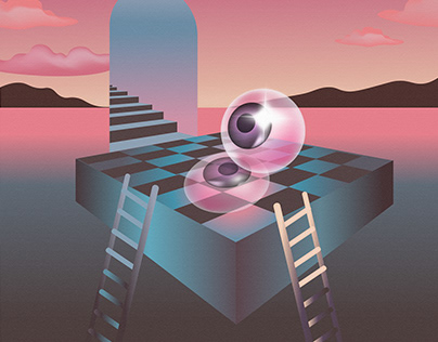 """ILLUSTRATIONS ON THE THEME """"EYES IN A MAZE"""""""