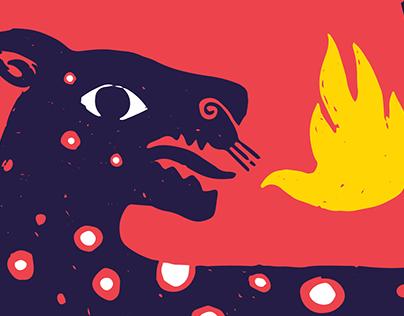 El Jaguar, El Alebrije y el Gallo