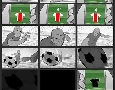 Kickoff - Fantasy League - Storyboards