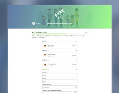 Branding / App design / UX / UI - for FCPE @JETPULP